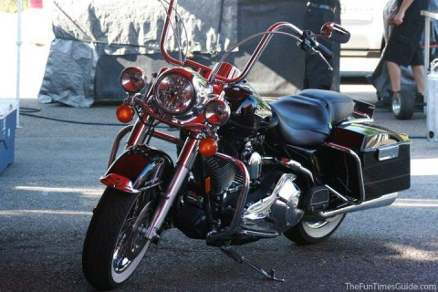 Our new motorcycle -- a 2005 Harley Davidson Road King Classic. photo by Jim at TheFunTimesGuide.com