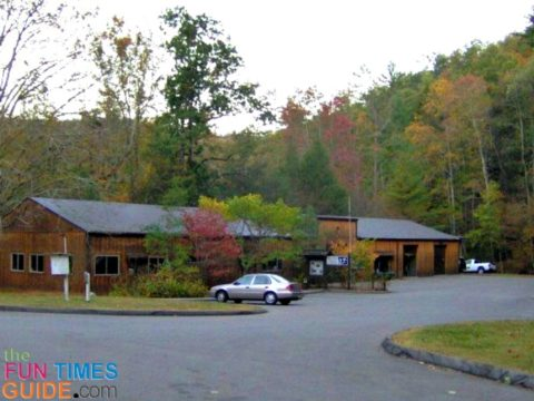 Great Smoky Mountains Institute at Tremont parking lot and restrooms.