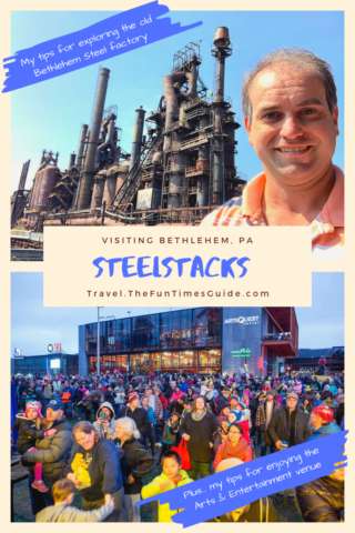 See photos I took while touring the old Bethlehem steel stacks & abandoned factory. I've also got tips for making the most of your visit to SteelStacks, the arts and culture hub there.