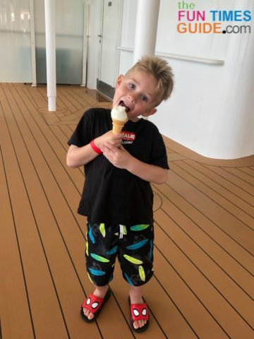 The all-u-care-to-eat ice cream station on Disney Dream was definitely a hit!