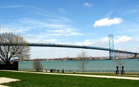 Connecting the U.S. and Canada, the Ambassador Bridge is one of the most heavily traveled U.S. bridges - located in Detroit Michigan