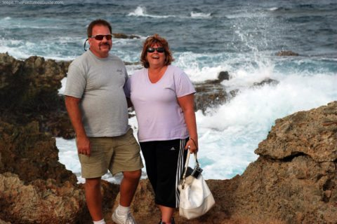 Our friends at the Natural Bridge in Aruba - a must see site if you're going to Aruba