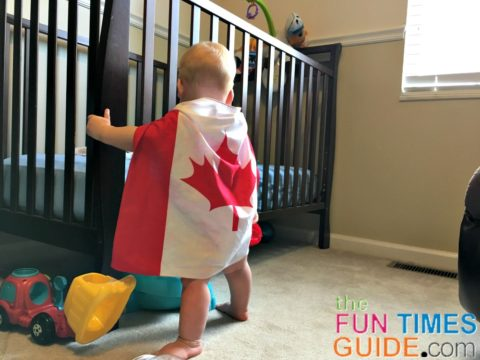 My baby boy - proud of his Canadian roots.