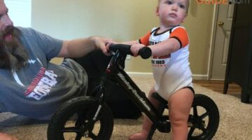 Our baby enjoys Harley-Davidson motorcycles too!