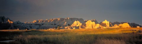 badlands-at-sunset
