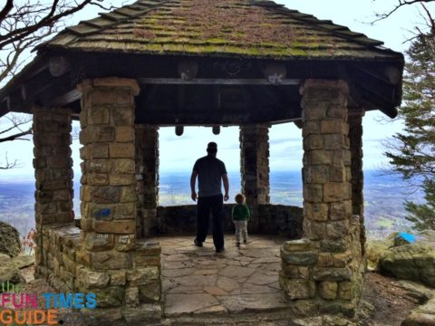 Hubby and son at the Gazebo Outlook on Benton Springs Road.
