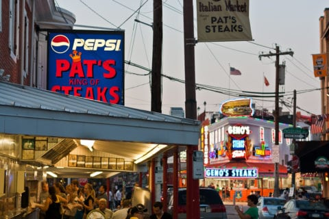 Pat's King of Steaks and Geno's Steaks are runners up in my search for the best cheesesteak in Philadelphia