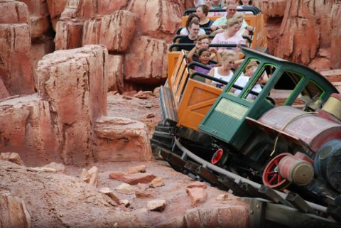 The Big Thunder Mountain ride at Disney appears tame, but it is one of the scariest rides in the park!