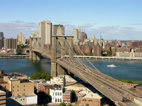 The Brooklyn Bridge is one of the most famous bridges in New York
