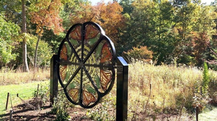 A gorgeous sculpture in the North Carolina Arboretum butterfly and pollinator garden.