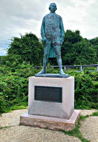 Francois Joseph Paul De Grasse statue at Cape Henry
