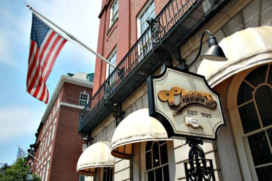 Entrance to the original Cheers bar in Boston, Massachusetts.