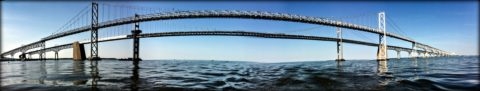 The Chesapeake Bay Bridge in Virginia