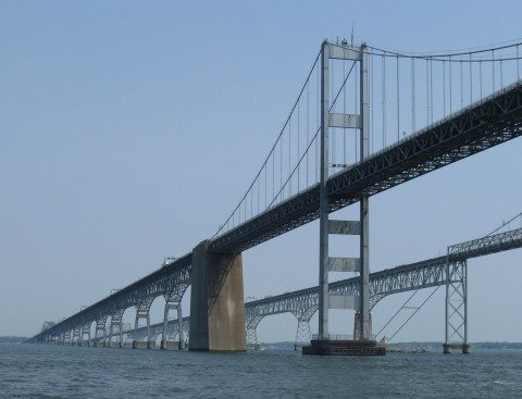 Some people think the Chesapeake Bay Bridge is one of the scariest bridges to drive over