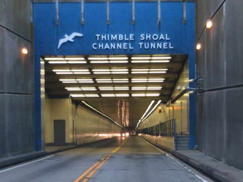 entrance to the Chesapeake Bay Bridge Tunnel