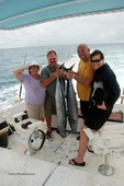 The huge Wahoo fish that Terry and Jim caught in Aruba.