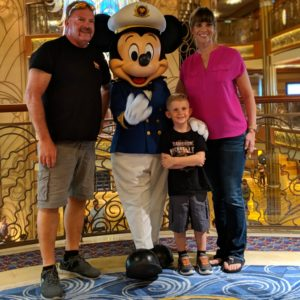 Disney character photos are definitely a highlight. The characters are located at various places on the ship throughout the 3 days.
