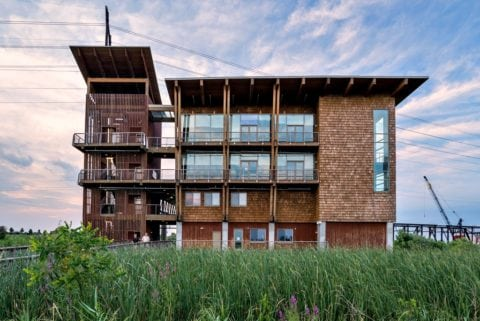 The DuPont Environmental Education Center serves as a visitor center for the wildlife refuge.
