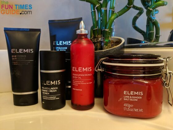 These are the products we bought after our Spa treatments on the Disney Dream cruise ship. Jim bought his directly from the Spa. I bought mine on Amazon after we returned home.