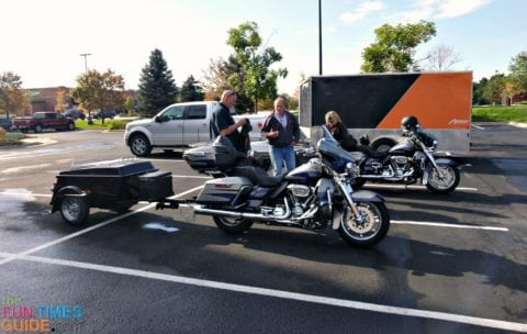 These are the motorcycles and motorcycle trailers that fit inside the enclosed motorcycle trailer.