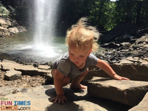 The natural rock ledges at Ozone Falls were a great place for us to unload our babies, relax, and explore.