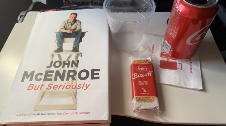 I enjoyed a good book and a free snack on my first airplane ride.