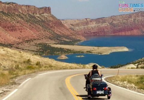 The Flaming Gorge in Utah looks amazing up close!