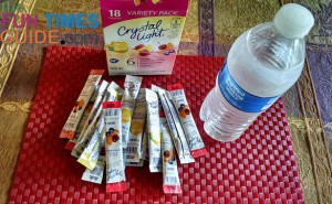 flavored water packets are a must on motorcycle road trips - because plain water gets boring