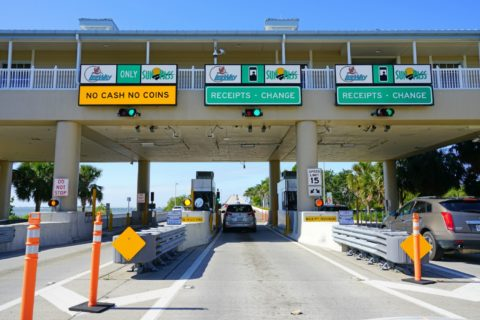 Many Florida tolls are billed using your license plate info. If you'll be in Florida awhile, you may want to get a Florida toll pass.