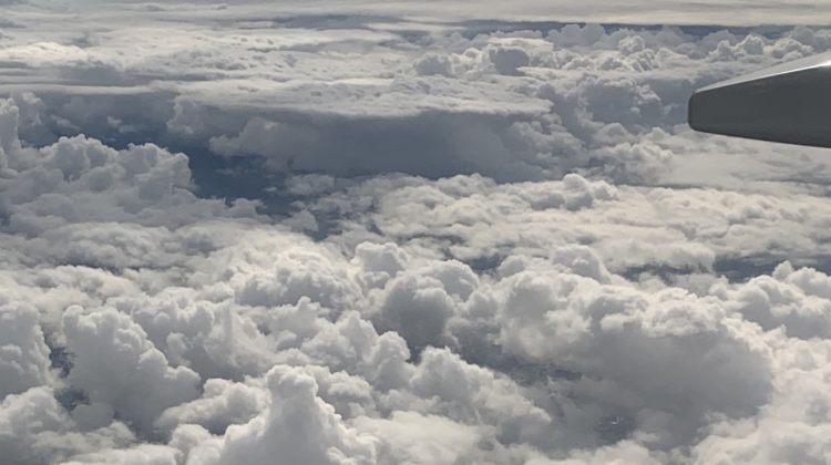 Flying over clouds is a really cool experience!