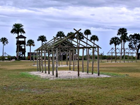 The archaeological park where the Fountain of Youth is in St Augustine FL