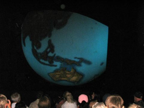 Discovery Globe is a 30-foot-tall replica of Earth that illustrates the routes that Ponce De Leon took.