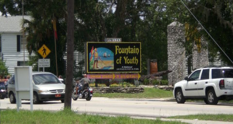 Fountain of Youth archaeological park in St. Augustine FL