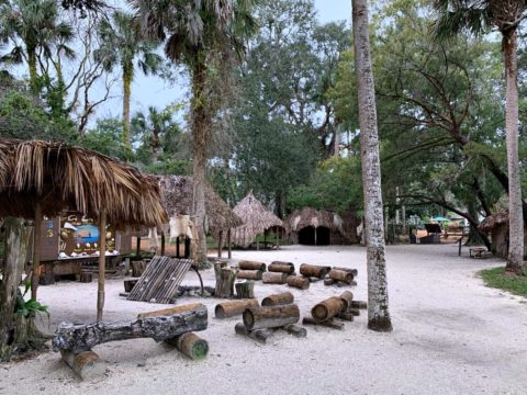 The Timicuan village gives you an idea of how people lived back then.