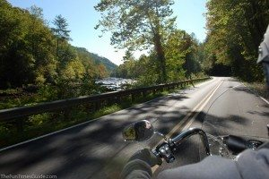 The sights were beautiful on this motorcycle ride through the Great Smoky Mountains in October. photo by Lynnette at TheFunTimesGuide.com