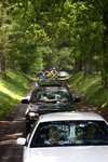 Example of the very busy Gatlinburg mountain roads... This was the line of traffic coasting through Cades Cove.
