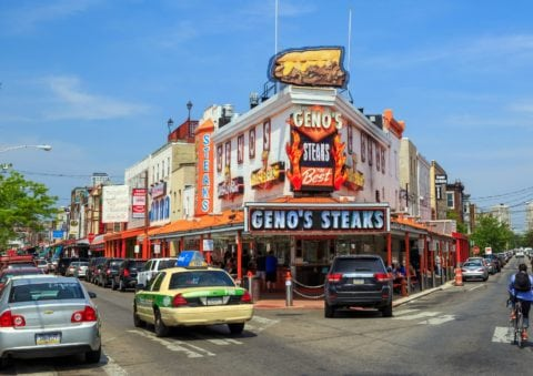 Geno's Steaks is one of the top 3 cheesesteak places in Philly.