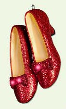 Hallmark ornament... Dorothy's red ruby slippers ornament.