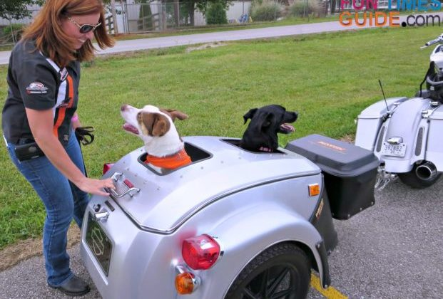 Packing for a motorcycle trip with dogs takes a little more planning - but it is worth it!