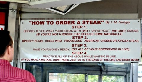 Before you go to Philadelphia to order a Philly cheesesteak sandwich, you need to know how to order Philly cheesesteak in Philly!