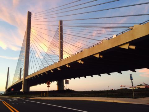The Indian River Inlet Bridge in Delaware