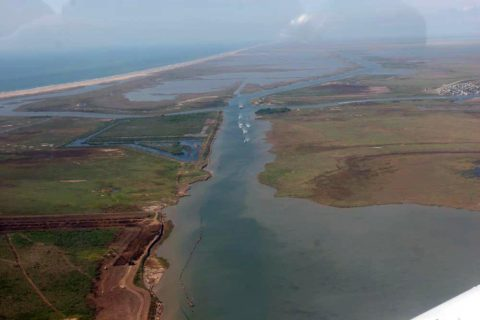 Aerial photo of the Intracoastal Waterway