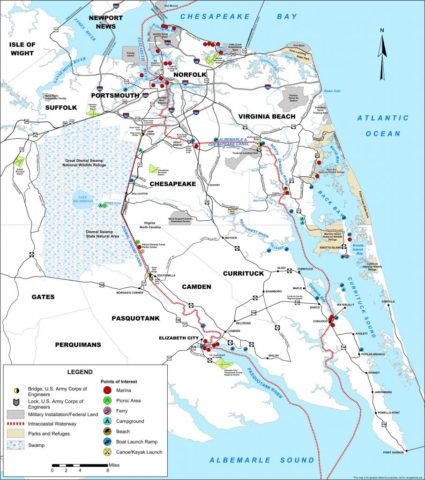 official intracoastal waterway map