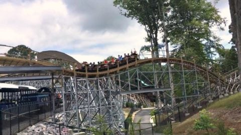 Invadr roller coaster at Busch Gardens Williamsburg, VA