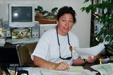 Jean Benchimol at her desk at The Gulf Breeze Zoo.