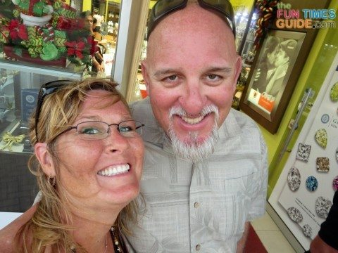 Jim and I enjoying our Aruba vacation again 6 years later