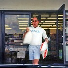 Jim buying ice to accommodate our supply of adult beverages.