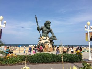 King Neptune statue on Virginia Beach