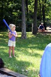 Sophie, the little slugger.