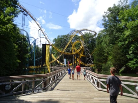 The Loch Ness Monster ride at Busch Gardens Williamsburg, VA